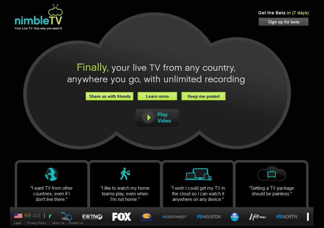NimbleTV Beta Released – a revolution in Television!